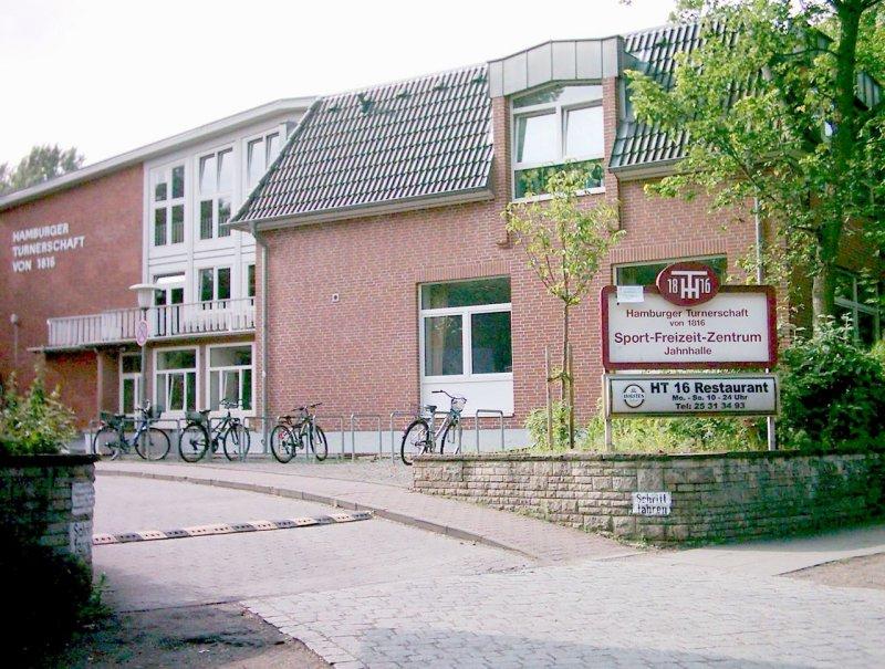 Blick auf das Sportzentrum Sievekingdamm
