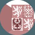 Karte Tchechische Republik in Flaggenfarben