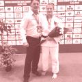 Renèe mit Landestrainer Slavko Tekic