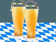 Biergläser auf Bayerischer Tischdecke