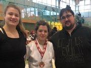HT16-Team Reneé, Blerina und Trainer Dennis